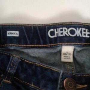 Cherokee Bottoms - Cherokee Girls Dark Blue Bermuda Shorts 10/12